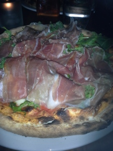 Pizza with Prosciutto  & Arugula