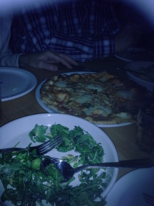 Margherita Pizza and Rucola Salad