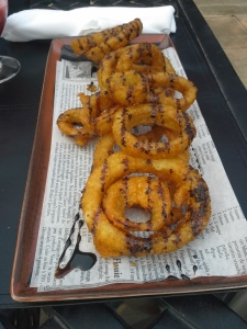 Onion Rings & Balsamic reduction Drizzle