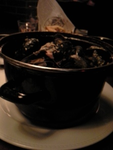 Mussles in Cream au Lard